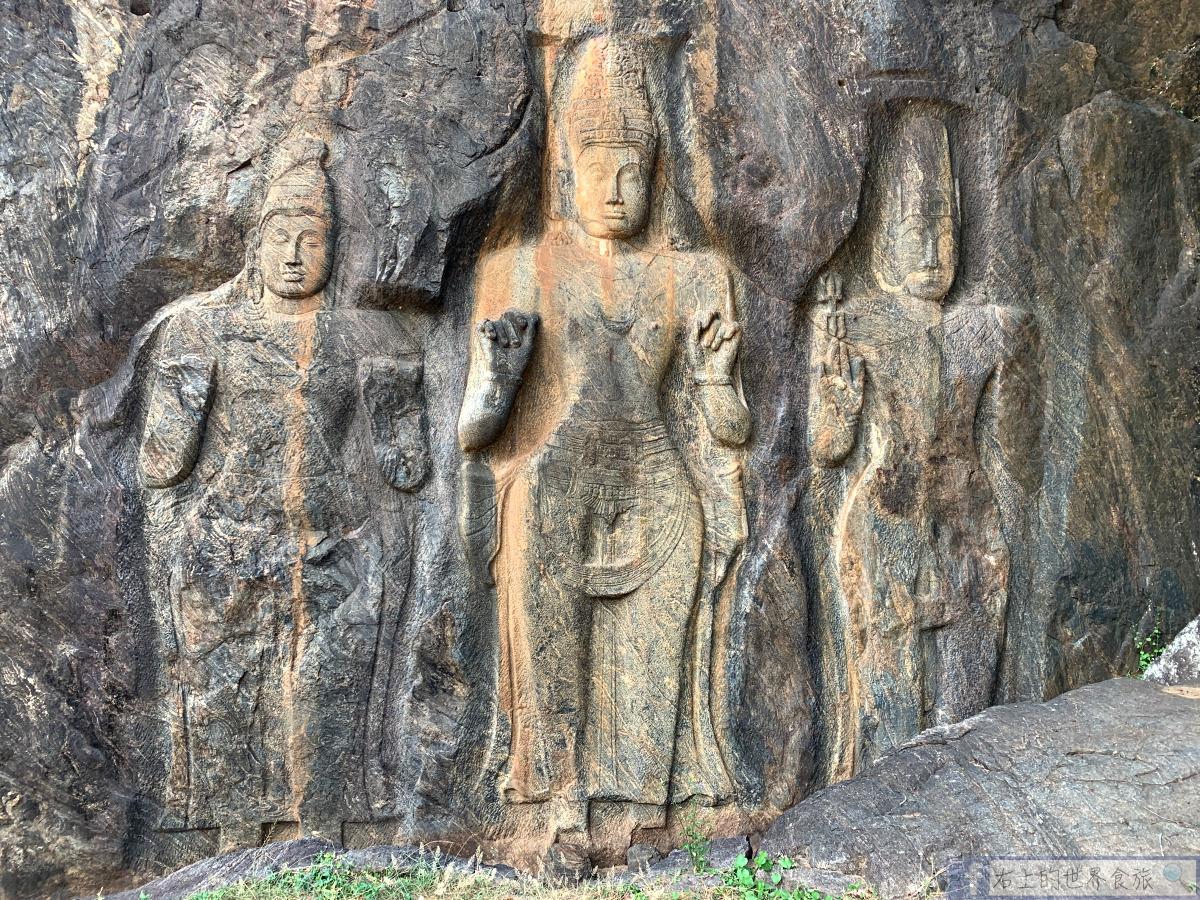 斯里蘭卡9-最古老也最大的石刻佛像千年遺跡與絕美湖泊:Buduruwagala Temple @右上的世界食旅
