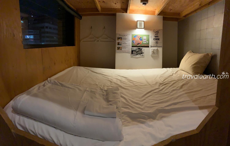 大阪 日本橋住宿-地鐵站旁.便宜方便、窮遊超推薦青年旅館:福宿Fuku hostel @右上的世界食旅