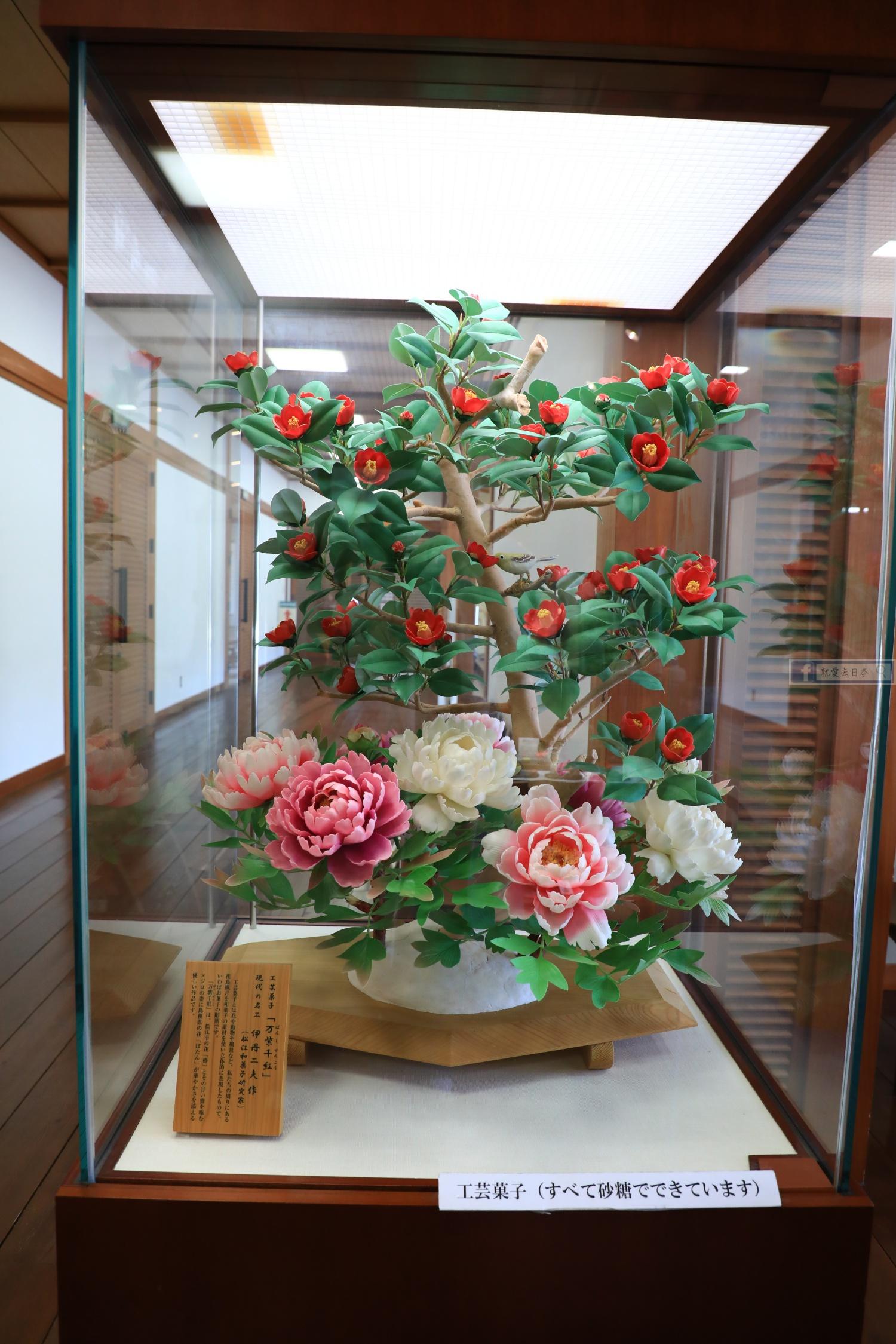 島根 松江旅遊-遠眺松江城和果子甜點屋,職人現場製作:喫茶 きはる @右上的世界食旅