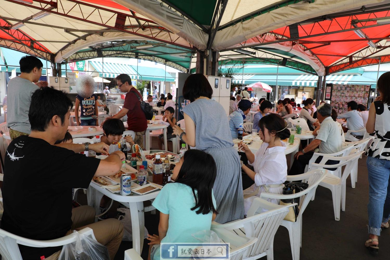 新潟旅遊美食-pia萬代市場、弁慶迴轉壽司:燒烤魚貨、迴轉壽司、白米、清酒、蔬果買不完的觀光市場 @愛旅行 - 右上的世界食旅