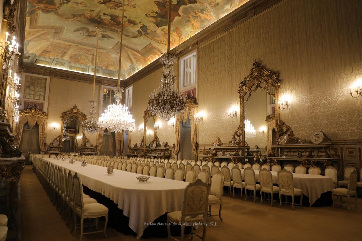 葡萄牙王朝末代華麗宮殿.必遊秘境景點:里斯本 阿茹達宮Palácio Nacional da Ajuda @右上的世界食旅