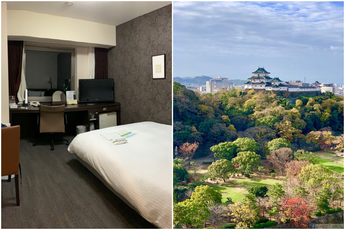 和歌山住宿-俯瞰和歌山城窗景:Daiwa Roynet Hotel Wakayama(和歌山大和魯內飯店)