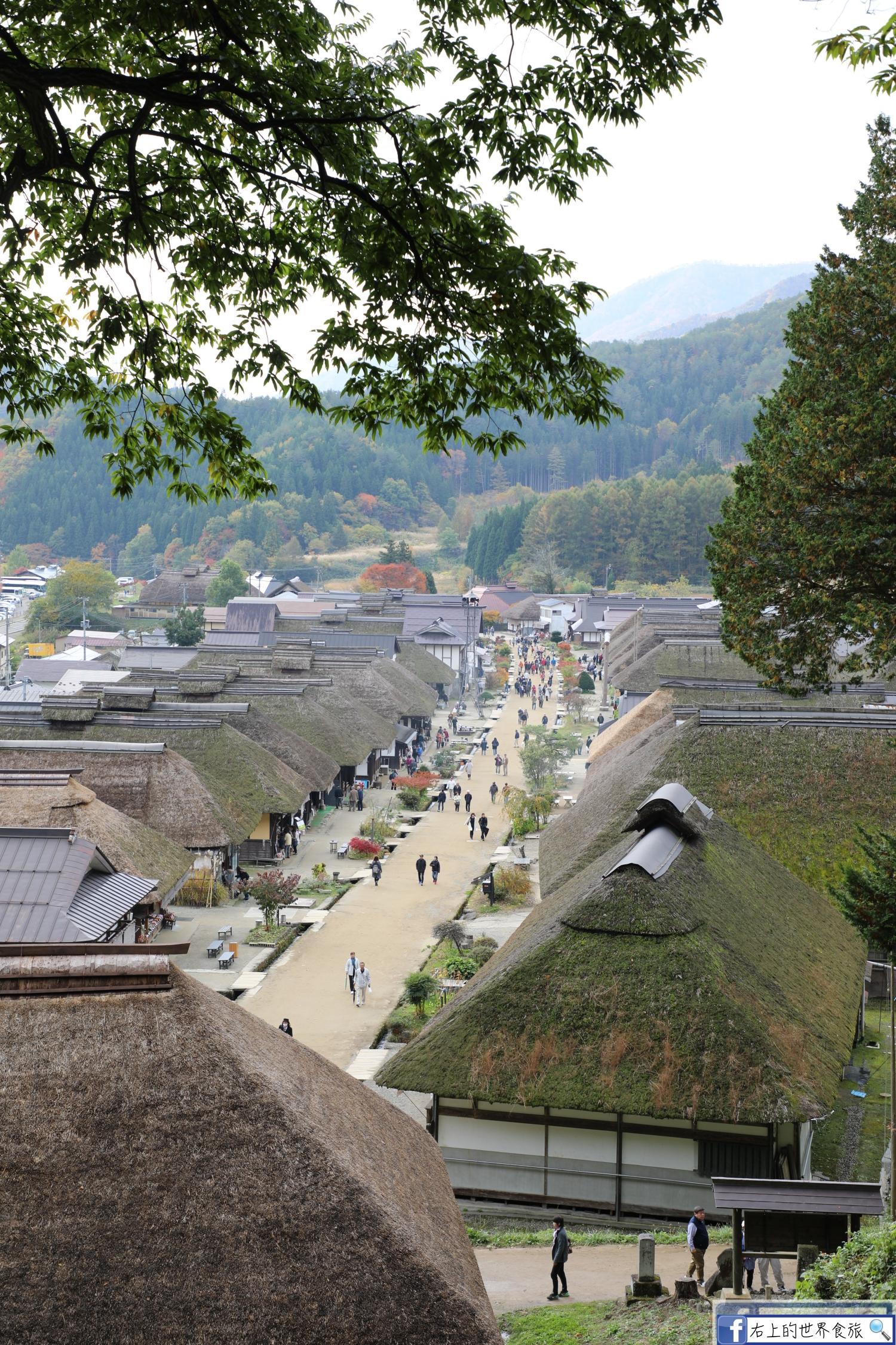福島旅遊-大內宿:日本三大茅草屋 秋季楓景,傳統建物完整又好逛