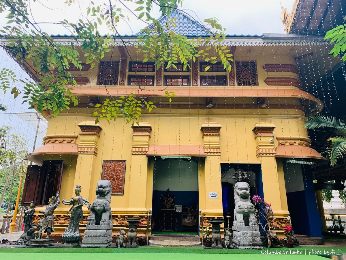 斯里蘭卡15-可倫坡市區一日遊,看千年古物逛繽紛寺廟:國立博物館.gangaramaya temple @右上世界食旅