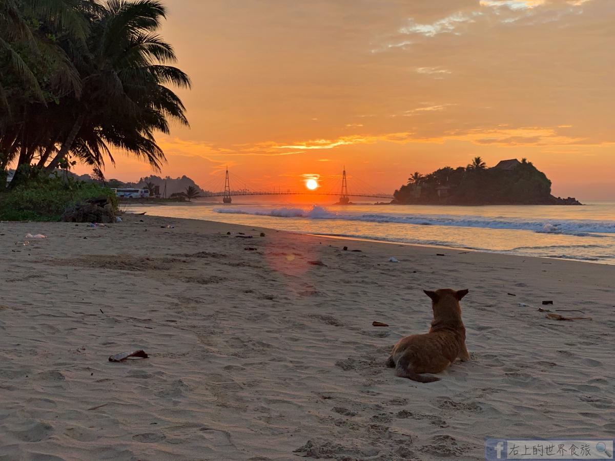 斯里蘭卡12-漫步落日與朝陽並存的馬塔拉海灘與旅館.美食.景點一日遊