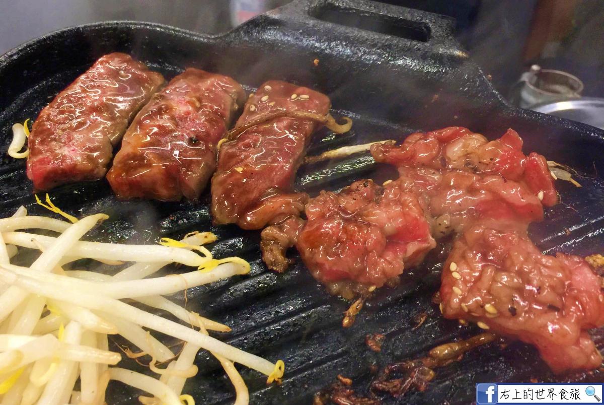 大阪梅田美食|大塊濃厚燒肉.宵夜晚餐都過癮:焼肉ホルモン 坂上 梅田本店 @右上的世界食旅