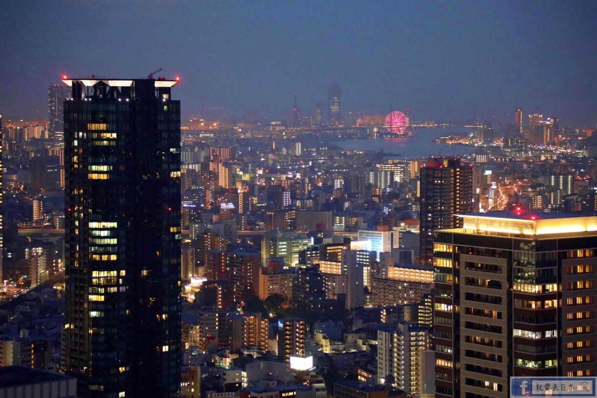 大阪旅遊-梅田空中庭園.藍天大廈展望台:大阪必訪,360度無死角絕美夜景