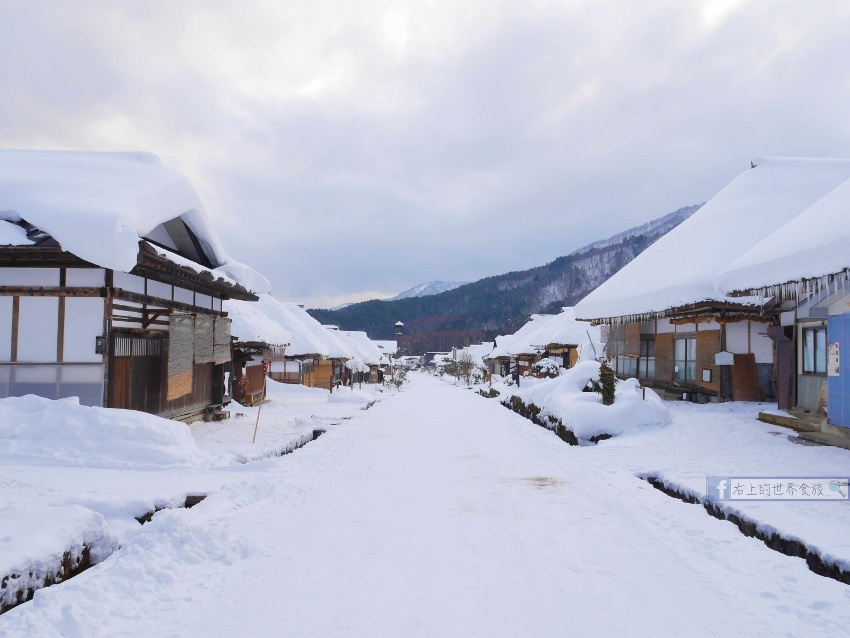 福島旅遊-冬遊大內宿:日本三大茅草屋 冬季雪景 @右上世界食旅