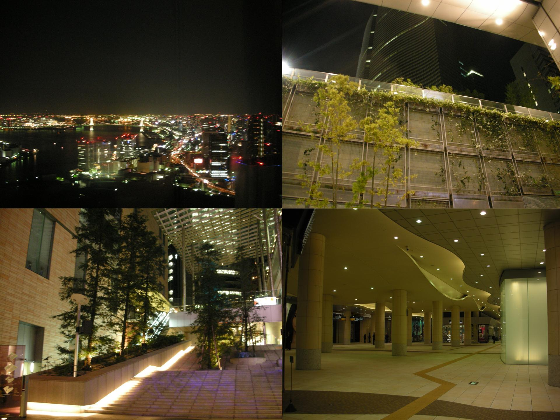 2007/11東京單人行D1~高貴的汐留大廈群 @右上的世界食旅