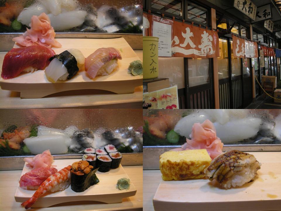 2007/11東京單人行D4~築地市場的舌尖幸福、巧遇六本木大蜘蛛 @右上的世界食旅