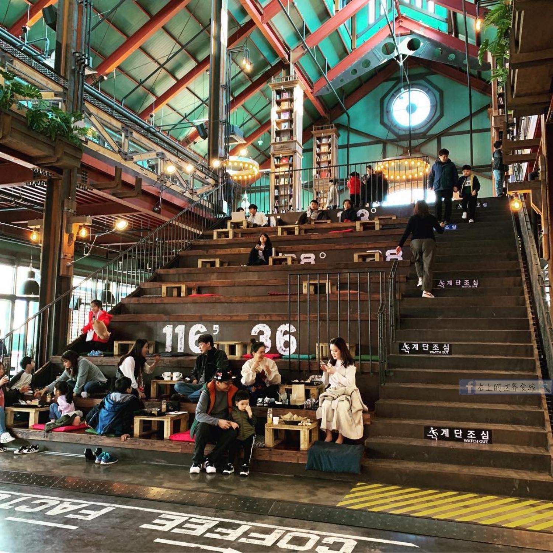 首爾旅遊美食|超大階梯.英倫工業風好拍照文青網美麵包咖啡店:DIRTY TRUNK COFFEE FACTORY(더티트렁크)