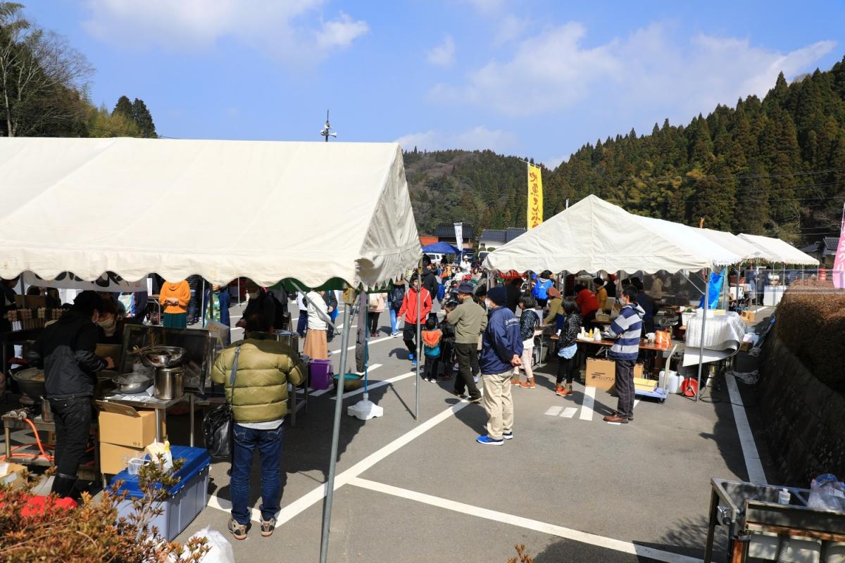 島根旅遊-石見銀山 大森町梅花祭典.吐梅籽大賽太驚人 @愛旅行 - 右上的世界食旅