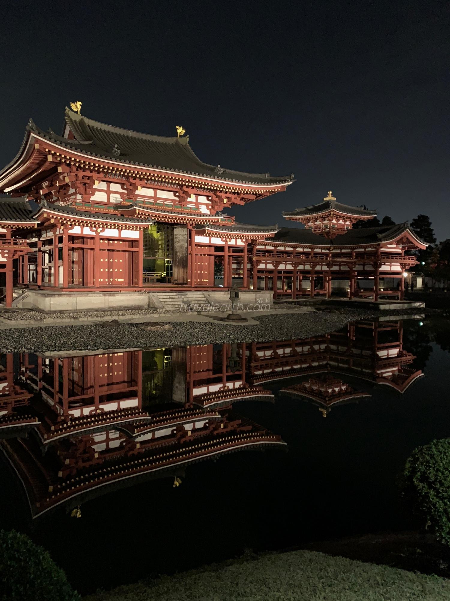 京都宇治賞楓-平等院鳳凰堂.必去千年古蹟賞夜楓 @右上的世界食旅