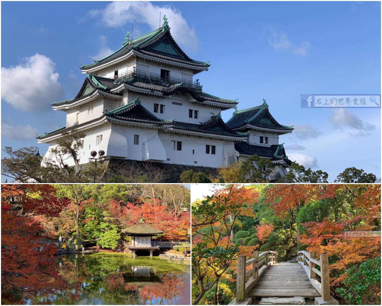 和歌山旅遊|和歌山城:日本百大名城.西之丸庭園的楓葉超級美!
